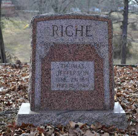 RICHE, THOMAS JEFFERSON - Shelby County, Tennessee   THOMAS JEFFERSON RICHE - Tennessee Gravestone Photos