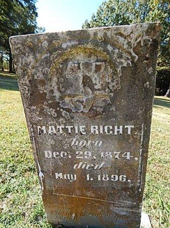 RIGHT, MATTIE - Shelby County, Tennessee | MATTIE RIGHT - Tennessee Gravestone Photos