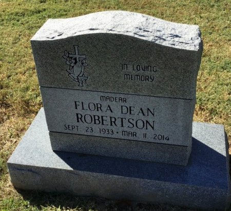 ROBERTSON, FLORA DEAN - Shelby County, Tennessee | FLORA DEAN ROBERTSON - Tennessee Gravestone Photos