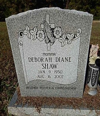 SHAW, DEBORAH DIANE - Shelby County, Tennessee | DEBORAH DIANE SHAW - Tennessee Gravestone Photos
