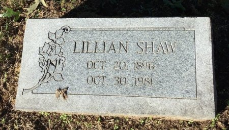 SHAW, LILLIAN - Shelby County, Tennessee | LILLIAN SHAW - Tennessee Gravestone Photos