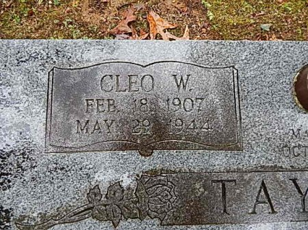 TAYLOR, CLEO W - Shelby County, Tennessee | CLEO W TAYLOR - Tennessee Gravestone Photos