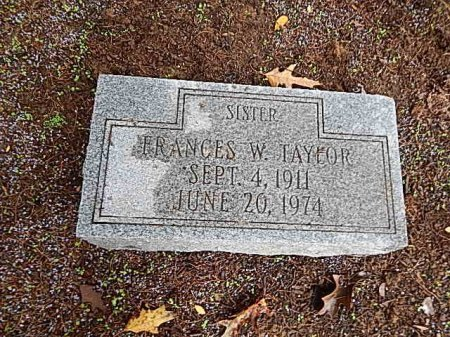 TAYLOR, FRANCES W - Shelby County, Tennessee | FRANCES W TAYLOR - Tennessee Gravestone Photos