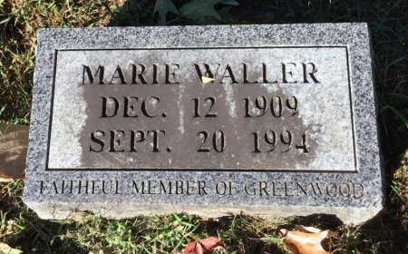 WALLER, MARIE - Shelby County, Tennessee | MARIE WALLER - Tennessee Gravestone Photos