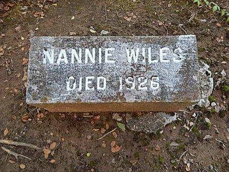 WILES, NANNIE - Shelby County, Tennessee | NANNIE WILES - Tennessee Gravestone Photos