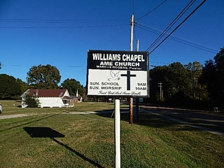 *WILLIAMS CHAPEL AME, SIGN - Shelby County, Tennessee | SIGN *WILLIAMS CHAPEL AME - Tennessee Gravestone Photos