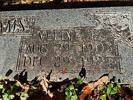 WILLIAMS, VEEDIE F - Shelby County, Tennessee | VEEDIE F WILLIAMS - Tennessee Gravestone Photos