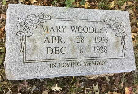 WOODLEY, MARY - Shelby County, Tennessee | MARY WOODLEY - Tennessee Gravestone Photos