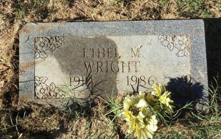 WRIGHT, ETHEL M. - Shelby County, Tennessee   ETHEL M. WRIGHT - Tennessee Gravestone Photos