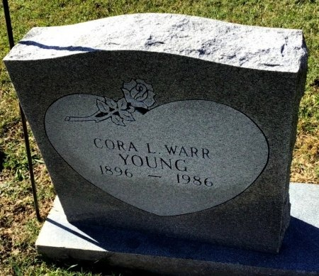 WARR YOUNG, CORA L. - Shelby County, Tennessee | CORA L. WARR YOUNG - Tennessee Gravestone Photos