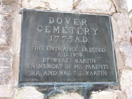 *DOVER CEMETERY PLAQUE,  - Stewart County, Tennessee |  *DOVER CEMETERY PLAQUE - Tennessee Gravestone Photos