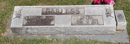 FARLESS, ONEDA - Stewart County, Tennessee | ONEDA FARLESS - Tennessee Gravestone Photos