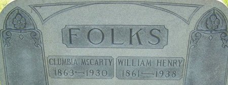 FOLKS, CLUMBIA - Stewart County, Tennessee | CLUMBIA FOLKS - Tennessee Gravestone Photos