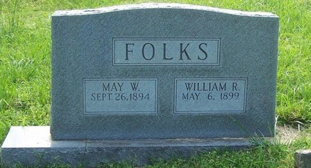 FOLKS, MAY W. - Stewart County, Tennessee | MAY W. FOLKS - Tennessee Gravestone Photos