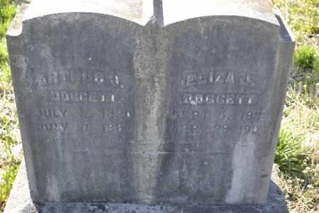 DROKE DOGGETT, ELIZA JANE - Sullivan County, Tennessee | ELIZA JANE DROKE DOGGETT - Tennessee Gravestone Photos
