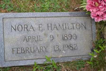 HAMILTON, NORA E - Sullivan County, Tennessee   NORA E HAMILTON - Tennessee Gravestone Photos