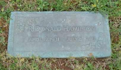 HAMILTON, R DONALD - Sullivan County, Tennessee   R DONALD HAMILTON - Tennessee Gravestone Photos