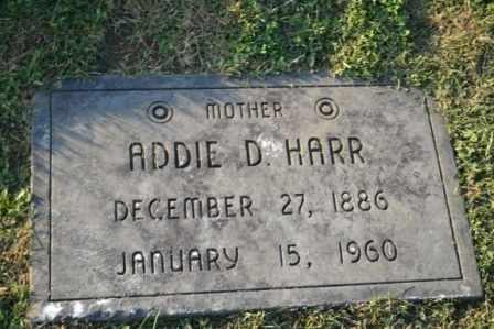 HARR, ADDIE D - Sullivan County, Tennessee | ADDIE D HARR - Tennessee Gravestone Photos