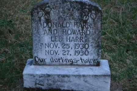 HARR, DONALD - Sullivan County, Tennessee   DONALD HARR - Tennessee Gravestone Photos