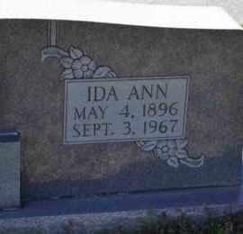 HARR, IDA ANN (CLOSE UP) - Sullivan County, Tennessee   IDA ANN (CLOSE UP) HARR - Tennessee Gravestone Photos