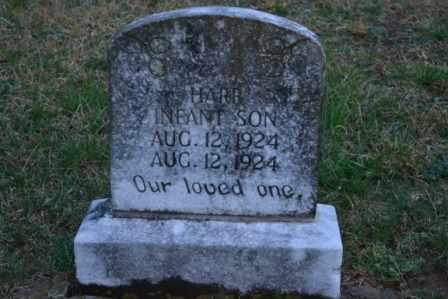 HARR, INFANT SON - Sullivan County, Tennessee | INFANT SON HARR - Tennessee Gravestone Photos