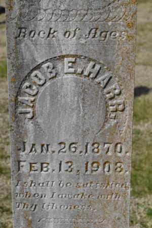 HARR, JACOB E (CLOSE UP) - Sullivan County, Tennessee | JACOB E (CLOSE UP) HARR - Tennessee Gravestone Photos