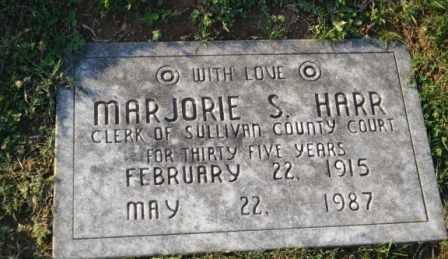 HARR, MAJORIE S - Sullivan County, Tennessee | MAJORIE S HARR - Tennessee Gravestone Photos
