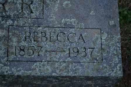 HARR, REBECCA (CLOSE UP) - Sullivan County, Tennessee | REBECCA (CLOSE UP) HARR - Tennessee Gravestone Photos