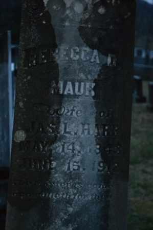 HARR, REBECCA D (CLOSE UP) - Sullivan County, Tennessee   REBECCA D (CLOSE UP) HARR - Tennessee Gravestone Photos