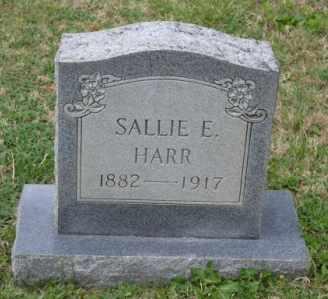 HARR, SALLIE E - Sullivan County, Tennessee   SALLIE E HARR - Tennessee Gravestone Photos