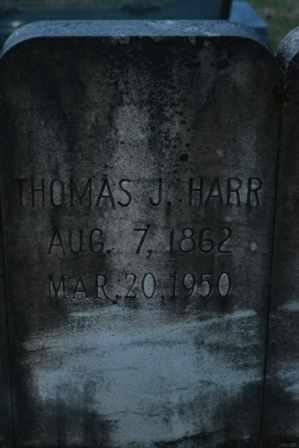 HARR, THOMAS J (CLOSE UP) - Sullivan County, Tennessee | THOMAS J (CLOSE UP) HARR - Tennessee Gravestone Photos