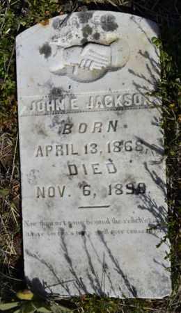 JACKSON, JOHN E - Sullivan County, Tennessee | JOHN E JACKSON - Tennessee Gravestone Photos