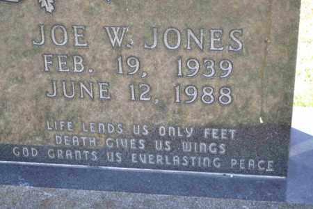 JONES, JOE W (CLOSE UP) - Sullivan County, Tennessee | JOE W (CLOSE UP) JONES - Tennessee Gravestone Photos