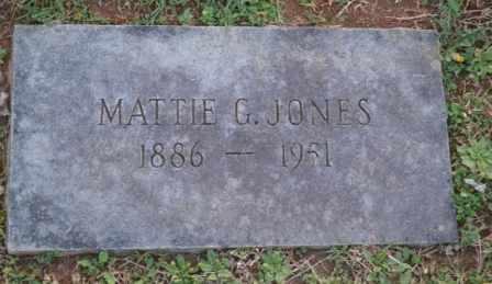 JONES, MATTIE G - Sullivan County, Tennessee   MATTIE G JONES - Tennessee Gravestone Photos