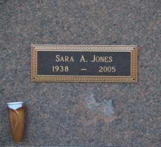 JONES, SARA A - Sullivan County, Tennessee | SARA A JONES - Tennessee Gravestone Photos