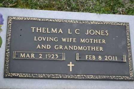 JONES, THELMA L C - Sullivan County, Tennessee   THELMA L C JONES - Tennessee Gravestone Photos