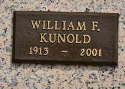 KUNOLD, WILLIAM F - Sullivan County, Tennessee | WILLIAM F KUNOLD - Tennessee Gravestone Photos