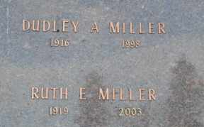 MILLER, DUDLEY A - Sullivan County, Tennessee | DUDLEY A MILLER - Tennessee Gravestone Photos
