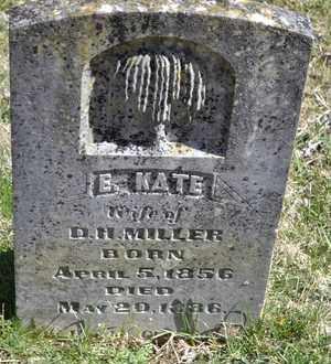 MILLER, E KATE - Sullivan County, Tennessee | E KATE MILLER - Tennessee Gravestone Photos
