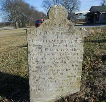 CRYER, ELISABETH L - Sumner County, Tennessee | ELISABETH L CRYER - Tennessee Gravestone Photos