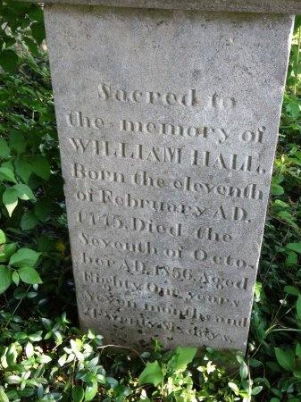HALL, WILLIAM - Sumner County, Tennessee | WILLIAM HALL - Tennessee Gravestone Photos