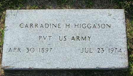 HIGGASON (VETERAN), CARRADINE H. - Sumner County, Tennessee | CARRADINE H. HIGGASON (VETERAN) - Tennessee Gravestone Photos