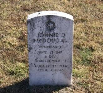 MCDOUGAL (VETERAN WWII), JOHNIE D - Sumner County, Tennessee | JOHNIE D MCDOUGAL (VETERAN WWII) - Tennessee Gravestone Photos