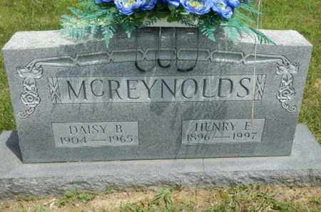 MCREYNOLDS, HENRY E. - Sumner County, Tennessee | HENRY E. MCREYNOLDS - Tennessee Gravestone Photos