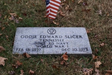 SLICER (VETERAN WWI), ODDIE EDWARD - Sumner County, Tennessee   ODDIE EDWARD SLICER (VETERAN WWI) - Tennessee Gravestone Photos