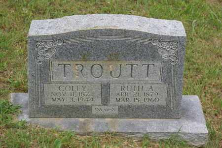 TROUTT, COLEY - Sumner County, Tennessee | COLEY TROUTT - Tennessee Gravestone Photos