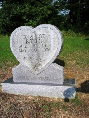 DYE BATES, CORA - Tipton County, Tennessee | CORA DYE BATES - Tennessee Gravestone Photos