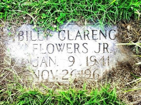 FLOWERS, BILLY CLARENCE JR. - Tipton County, Tennessee | BILLY CLARENCE JR. FLOWERS - Tennessee Gravestone Photos