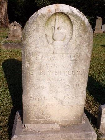 WHITLEY, SARAH ELIZABETH - Tipton County, Tennessee | SARAH ELIZABETH WHITLEY - Tennessee Gravestone Photos