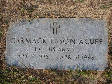 ACUFF (VETERAN), CARMACK FUSON - Union County, Tennessee | CARMACK FUSON ACUFF (VETERAN) - Tennessee Gravestone Photos